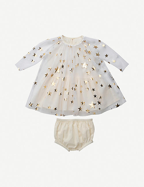 STELLA MCCARTNEY: Star-print tulle dress 3-36 months