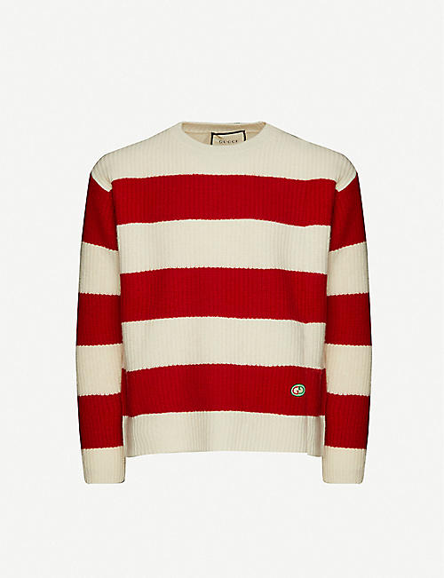 GUCCI: Striped wool jumper
