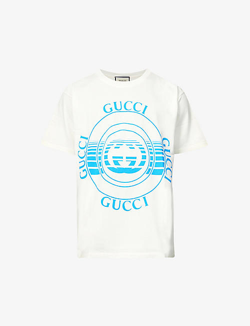 GUCCI: Logo-print cotton-jersey T-shirt