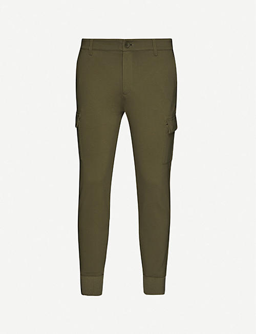 PAIGE: Harvington woven cargo trousers