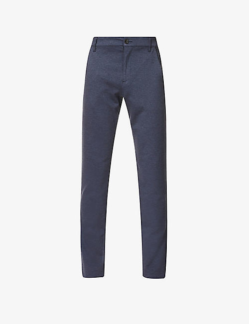 PAIGE: Stafford woven stretch straight-leg trousers