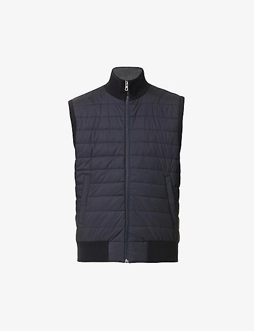 RALPH LAUREN PURPLE LABEL: Reversible cotton and shell gilet