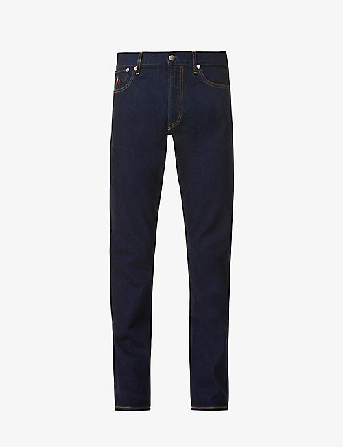 RALPH LAUREN PURPLE LABEL: Slim stretch-denim jeans