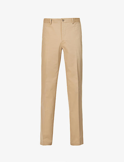 RALPH LAUREN PURPLE LABEL: Slim stretch-cotton trousers