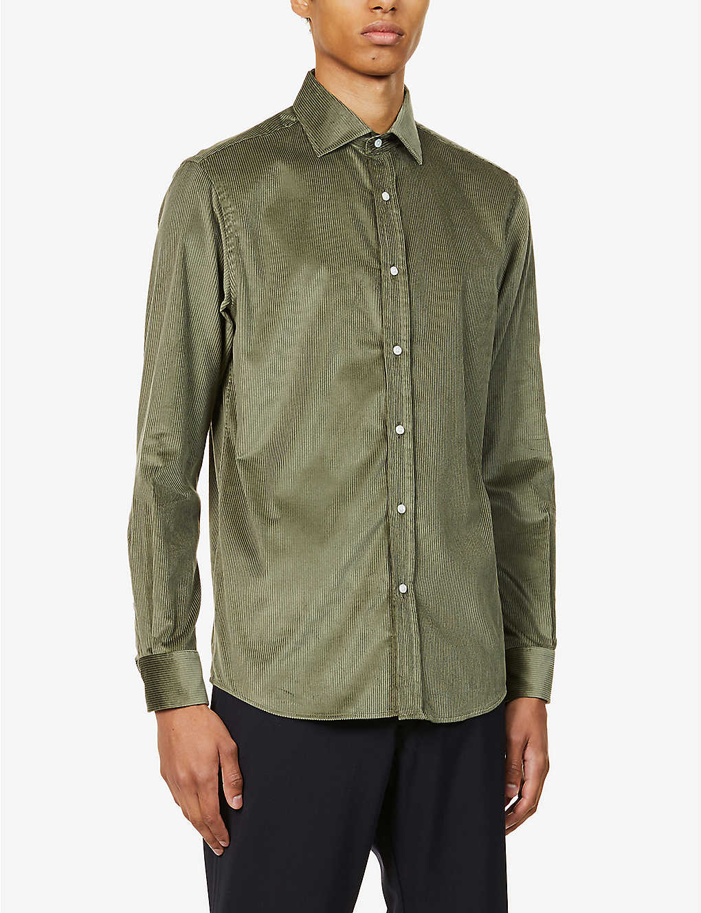 RALPH LAUREN PURPLE LABEL: Aston cotton- and cashmere-blend corduroy shirt