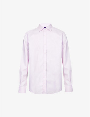 RALPH LAUREN PURPLE LABEL: Aston regular-fit cotton shirt
