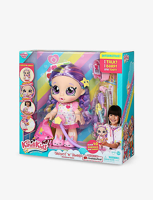 POCKET MONEY: Kindi Kids Shiver 'n' Shake Rainbow Kate doll