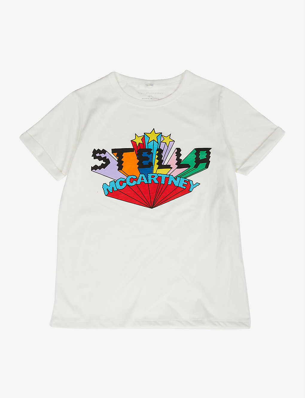 STELLA MCCARTNEY: Logo-print cotton-jersey T-shirt 4-16 years