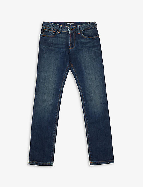 EMPORIO ARMANI: Slim-fit cotton jeans 4-16 years