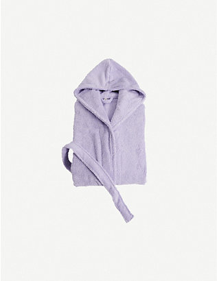 TEKLA: Hooded organic-cotton dressing gown