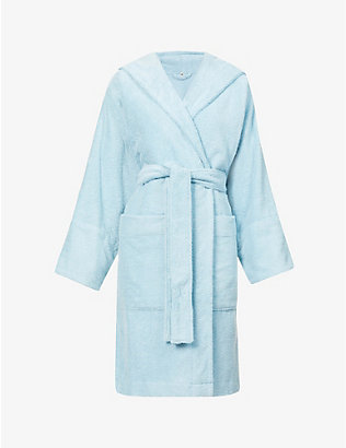 TEKLA: Hooded organic-cotton towelling robe