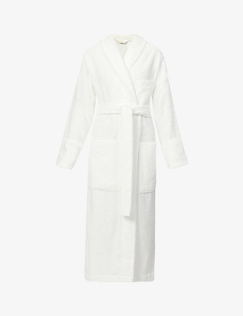 TEKLA: Classic organic-cotton towelling robe
