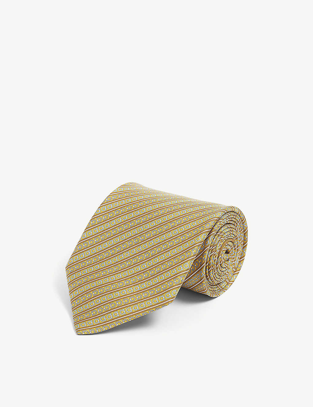SALVATORE FERRAGAMO: Gianco-print brushed silk tie