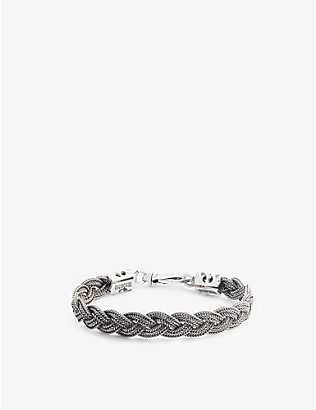 EMANUELE BICOCCHI: Braided sterling silver foxtail bracelet