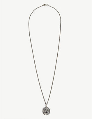EMANUELE BICOCCHI: Sterling silver coin necklace