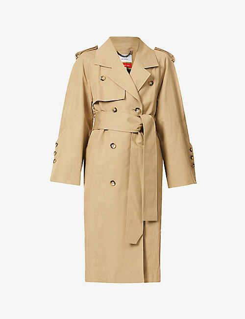AKIRA NAKA: Daphne cotton and linen-blend trench coat