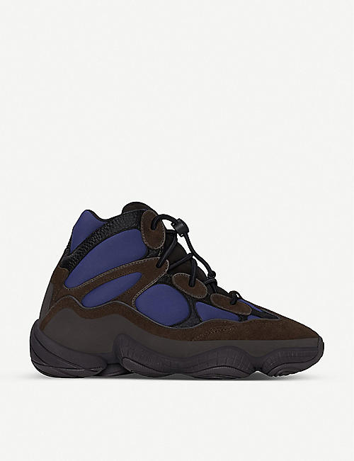ADIDAS Yeezy 500 suede and neoprene high-top trainers