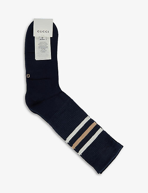GUCCI: Striped cotton-blend socks