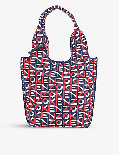 KENZO: Logo-print recycled-polyester tote bag