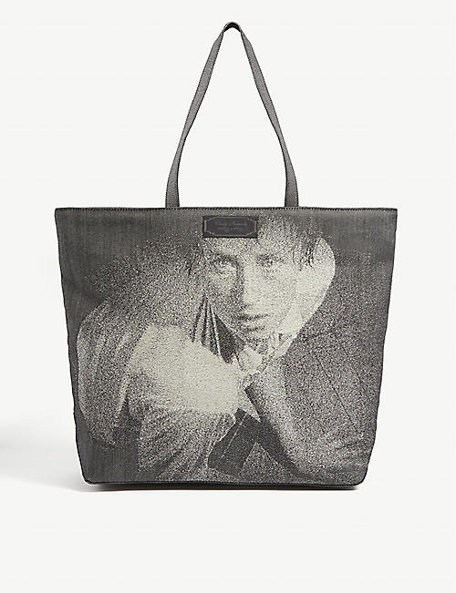 UNDERCOVER: Man graphic-print cotton tote