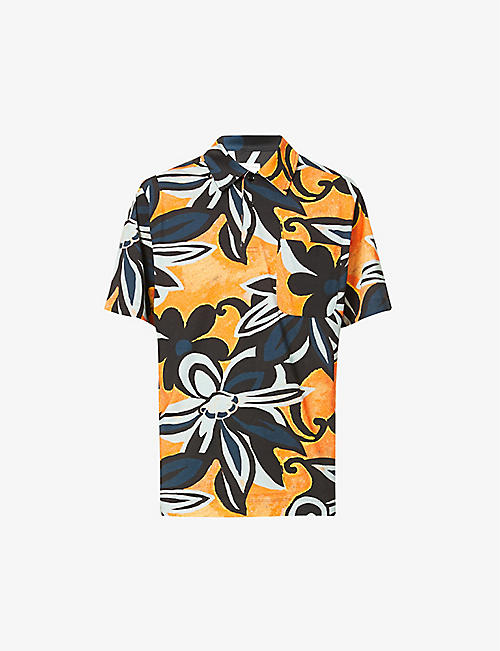 DRIES VAN NOTEN: Hadlers floral-print regular-fit cotton polo shirt