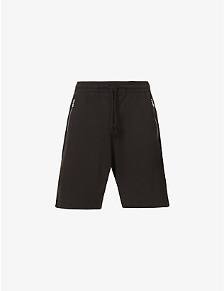 DRIES VAN NOTEN: Hobdar zipped cotton-jersey shorts