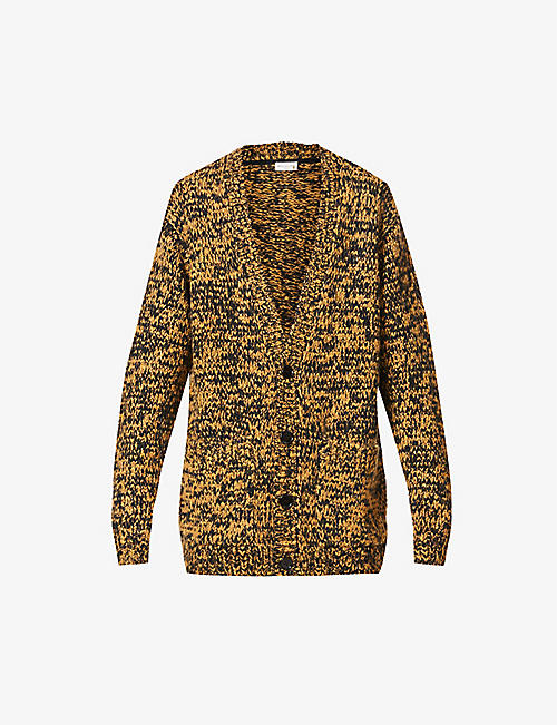 DRIES VAN NOTEN: Mick two-tone merino-blend cardigan