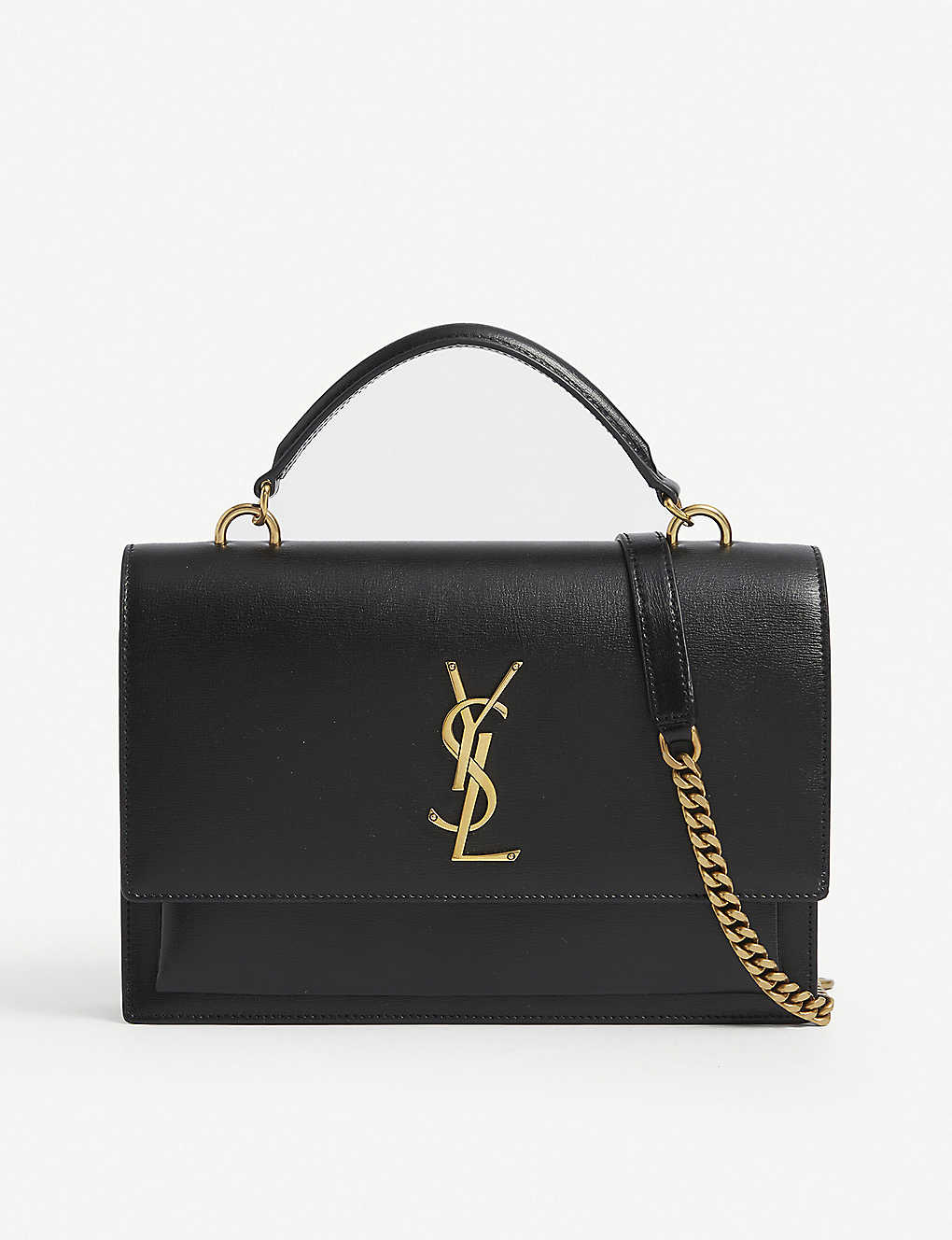 SAINT LAURENT: Sunset medium monogram leather shoulder bag