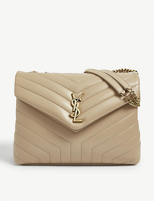 SAINT LAURENT: Loulou medium monogram quilted leather shoulder bag