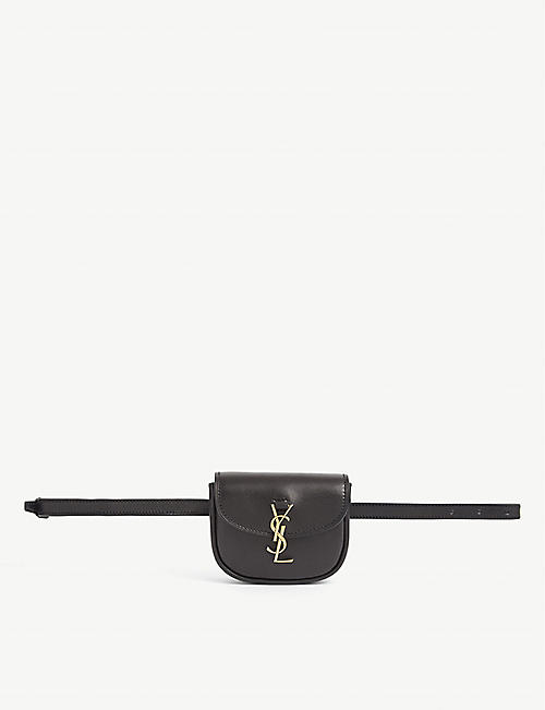 SAINT LAURENT: Kaia leather belt bag