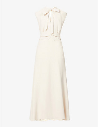 ROLAND MOURET: Katios cut-out crepe midi dress