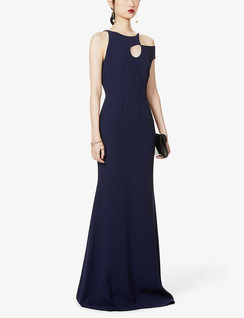 ROLAND MOURET: Galata cut-out crepe gown