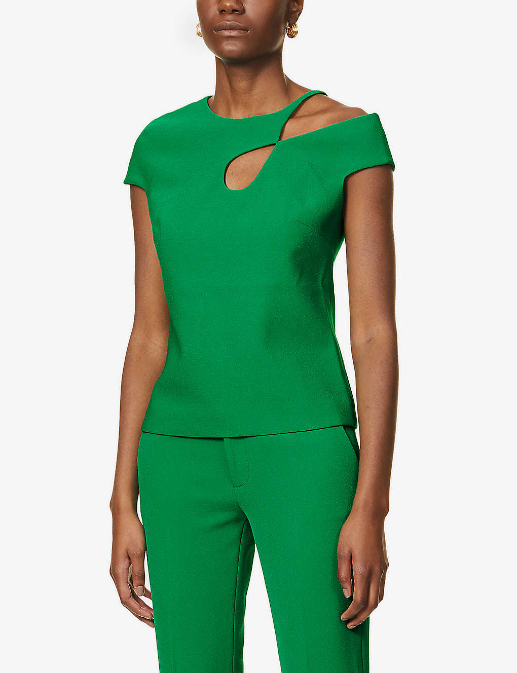 ROLAND MOURET: Rialto cut-out crepe top