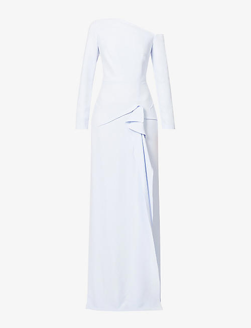 ROLAND MOURET: Salona draped crepe gown