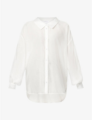 DESIGNERS REMIX: Sonia puff-sleeved woven shirt