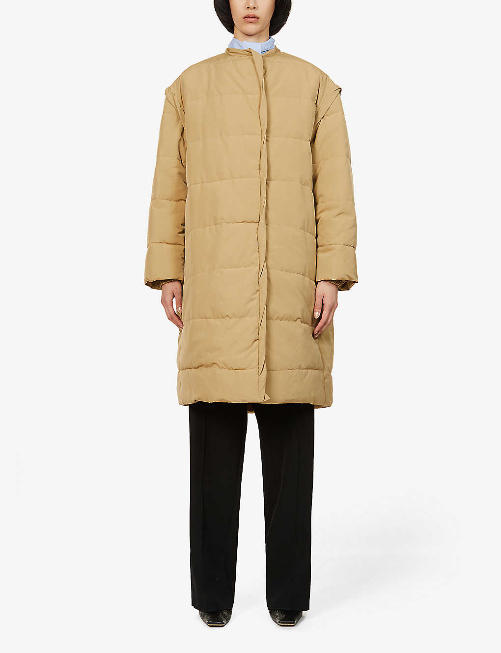 GIVENCHY: Quilted and padded cotton-blend puffer coat