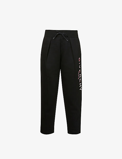 GIVENCHY: Logo-print cotton-blend jogging bottoms