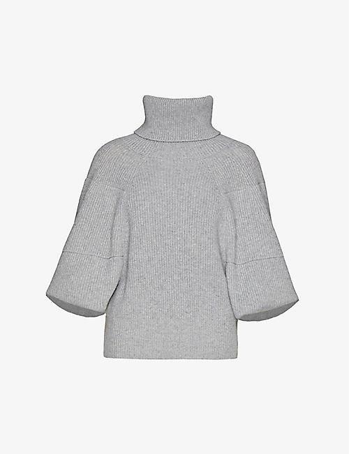 GIVENCHY: Turtleneck dolman-sleeved cashmere jumper