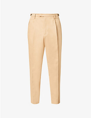 BARENA VENEZIA: Cropped tapered cotton-twill trousers