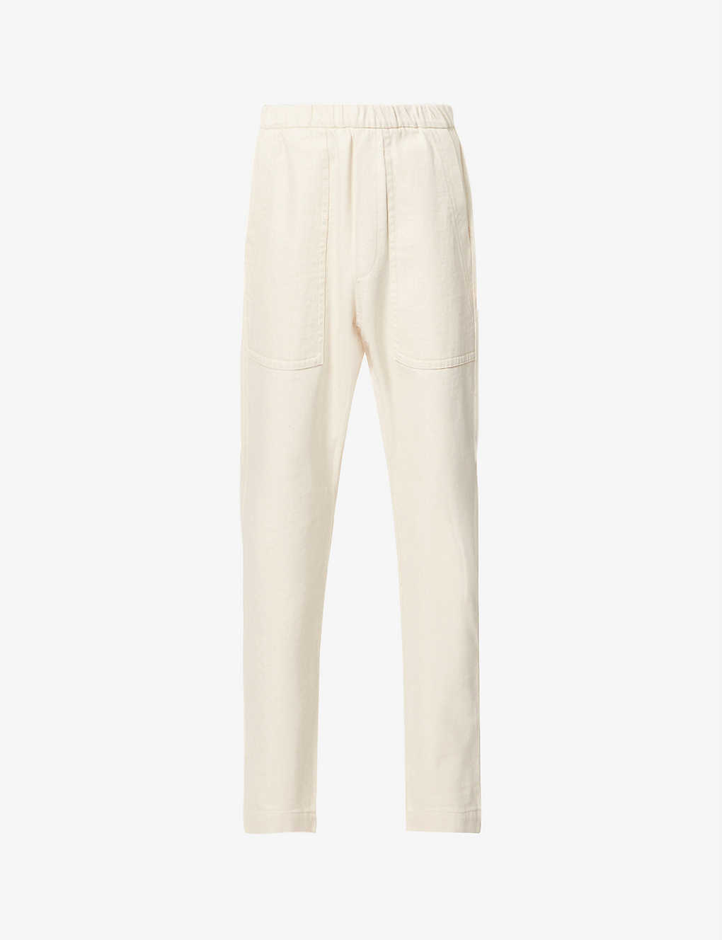 BARENA VENEZIA: Trabaco cropped tapered cotton-twill trousers