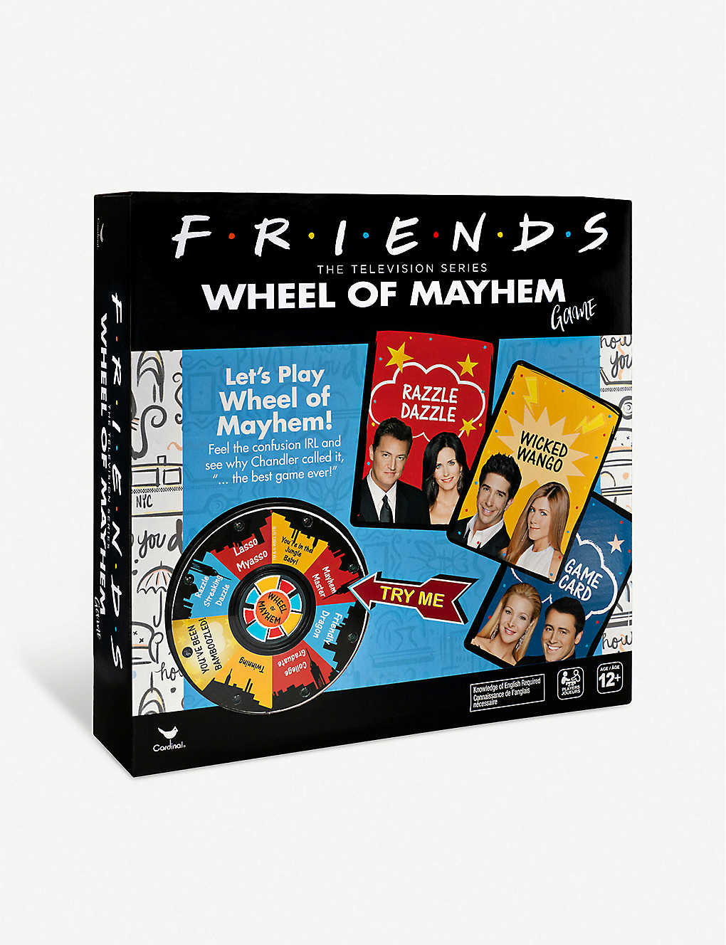 BOARD GAMES: Cardinal Friends: Wheel Of Mayhem board game