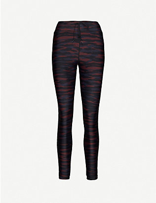 THE UPSIDE: Anima animal-print mid-rise stretch-woven leggings