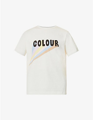 CHINTI AND PARKER: Slogan-print cotton-jersey T-shirt