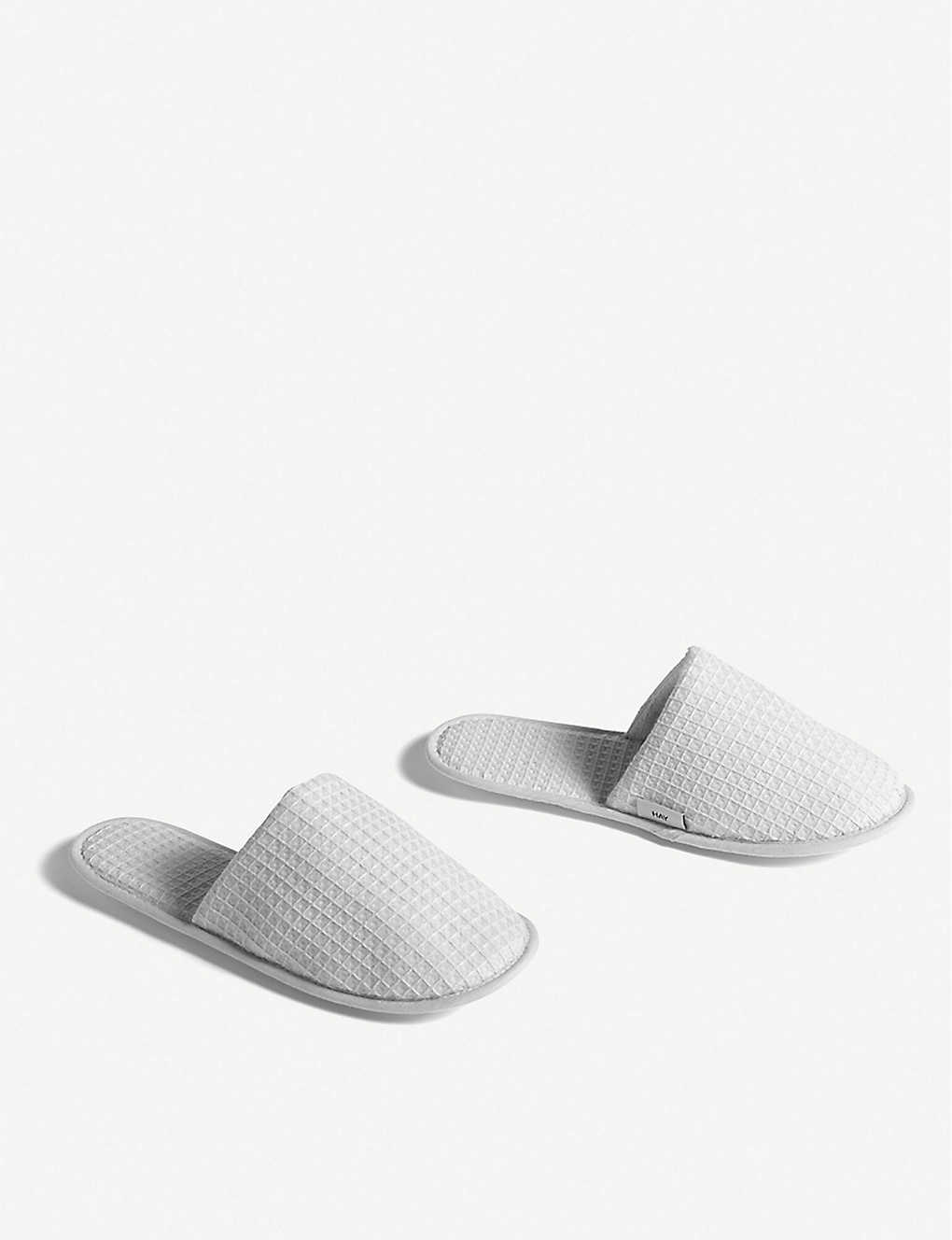 HAY: Waffle cotton slippers