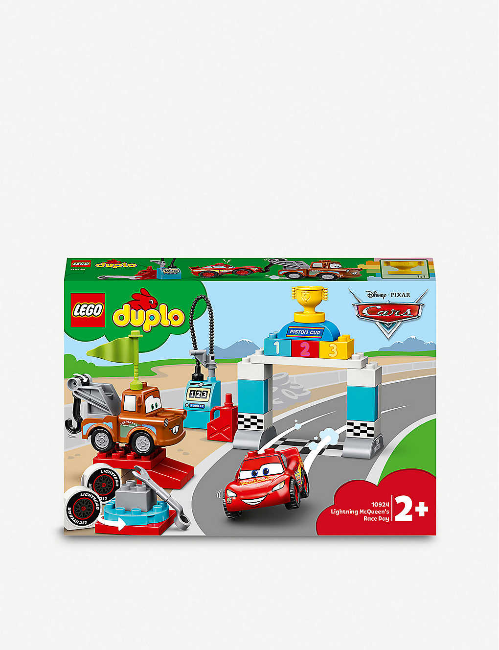 Lego Duplo 10924 Disney Pixar Cars Lightning Mcqueen S Race Day Set Selfridges Com