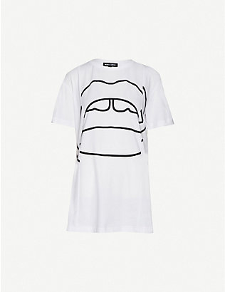 MARKUS LUPFER: Madison graphic-print cotton-jersey T-shirt