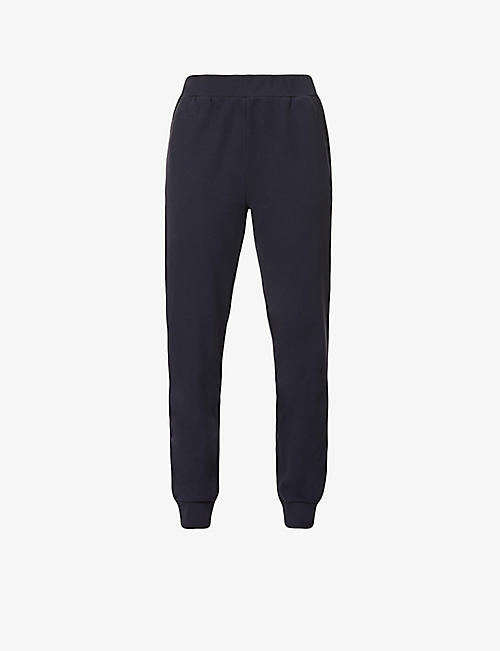 ERNEST LEOTY: Anouk high-rise tapered cotton-jersey jogging bottoms