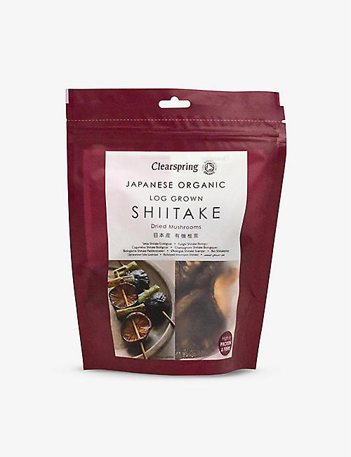 CLEARSPRING: Organic Japanese shiitake dried mushrooms 40g