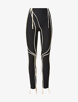 OTTOLINGER: Strappy stretch-jersey leggings
