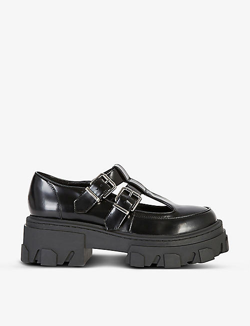 THE KOOPLES: Patent leather platform shoes